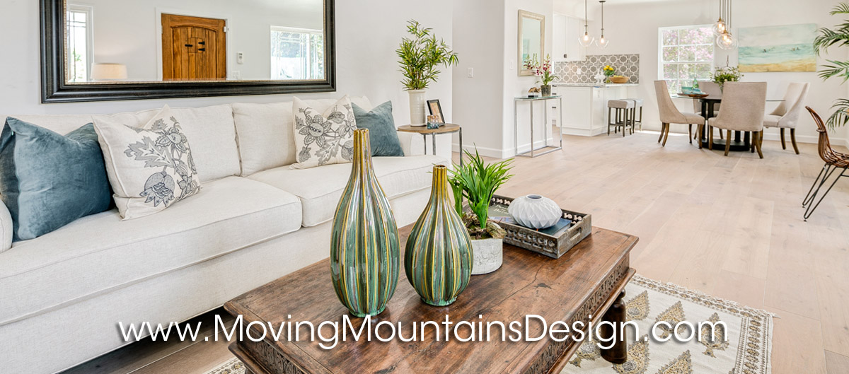 living room home staging for flippers and investors
